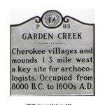 Garden Creek Cherokee site marker.