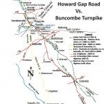 "Map of Howad Gap Road. Arthur N. Hale, ""History of Howard Gap Road in North and South Carolina."" Polk County Historical Association, 2001."