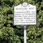 Historical Marker at Bechtler's Mint