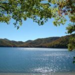 Nantahala Lake in fall.