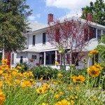 Shelton House and gardens.