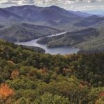 Long view of Nantahala Lake.