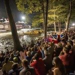 Thousands of spectators crowd the banks of the Nantahala for the semi-finals of the 2013 ICF Freestyle Kayaking World Championships, which attracted 200 athletes from over thirty countries for the seven-day competition.  Photo credit Steven McBride