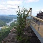 View from walkway to Pulpit Rock. Photo by Mary Jaeger-Gale.