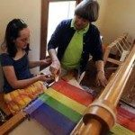 Heritage Weavers & Fiber Artists are housed in the renovated boarding house.