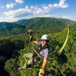 Zipline descends 110 vertical feet into one of the deepest gorges in eastern America.