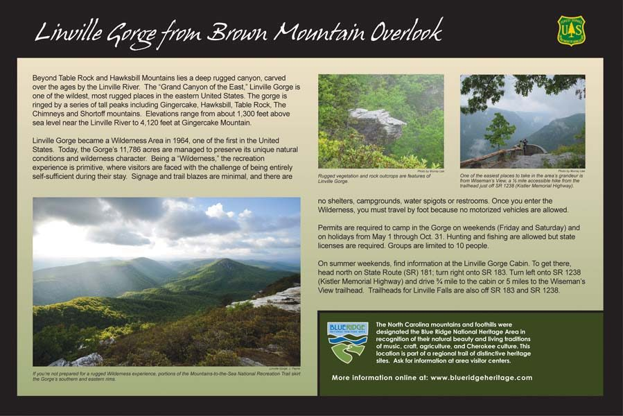 Linville Gorge Sign