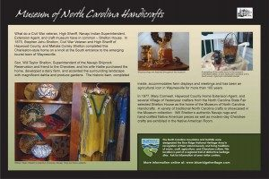 Shelton House NC Handicrafts Sign