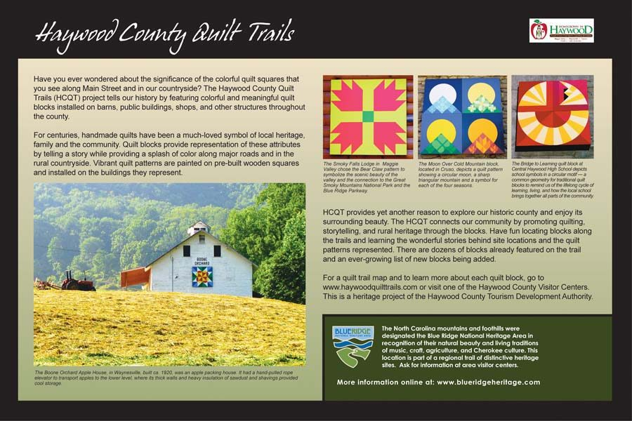 Haywood County Quilt Trails Sign