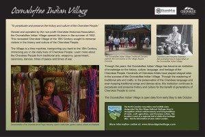Oconaluftee Indian Village Sign